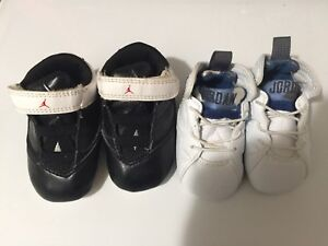 073510f53f7ddd LOT of 2 Nike Air Jordan Baby Shoes Sz 1 2c Infants Boys