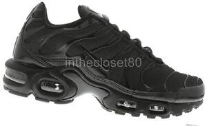 8c8e1c30d7 Nike Air Max Plus Tuned 1 Tn All Triple Black Mens Trainers Limited ...