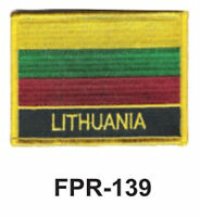 2-1/2'' X 3-1/2 Lithuania Flag Embroidered Patch