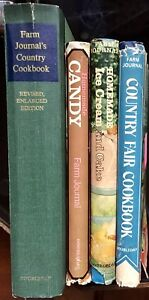Farm-Journal-Cookbooks-Lot-of-4-Country-Candy-Ice-Cream-Cake-Fair-Hardcover