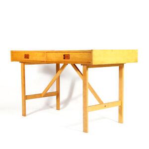 Retro-Vintage-Danish-Large-Oak-Double-Pedestal-Office-Desk-60s-70s-Mid-Century