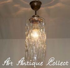 70er Deckenlampe Deckenleuchte Hängelampe Glas 70´s Ice Glass Pendant Luminaire