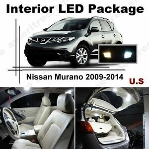 White Led Lights Interior Package Kit For Nissan Murano