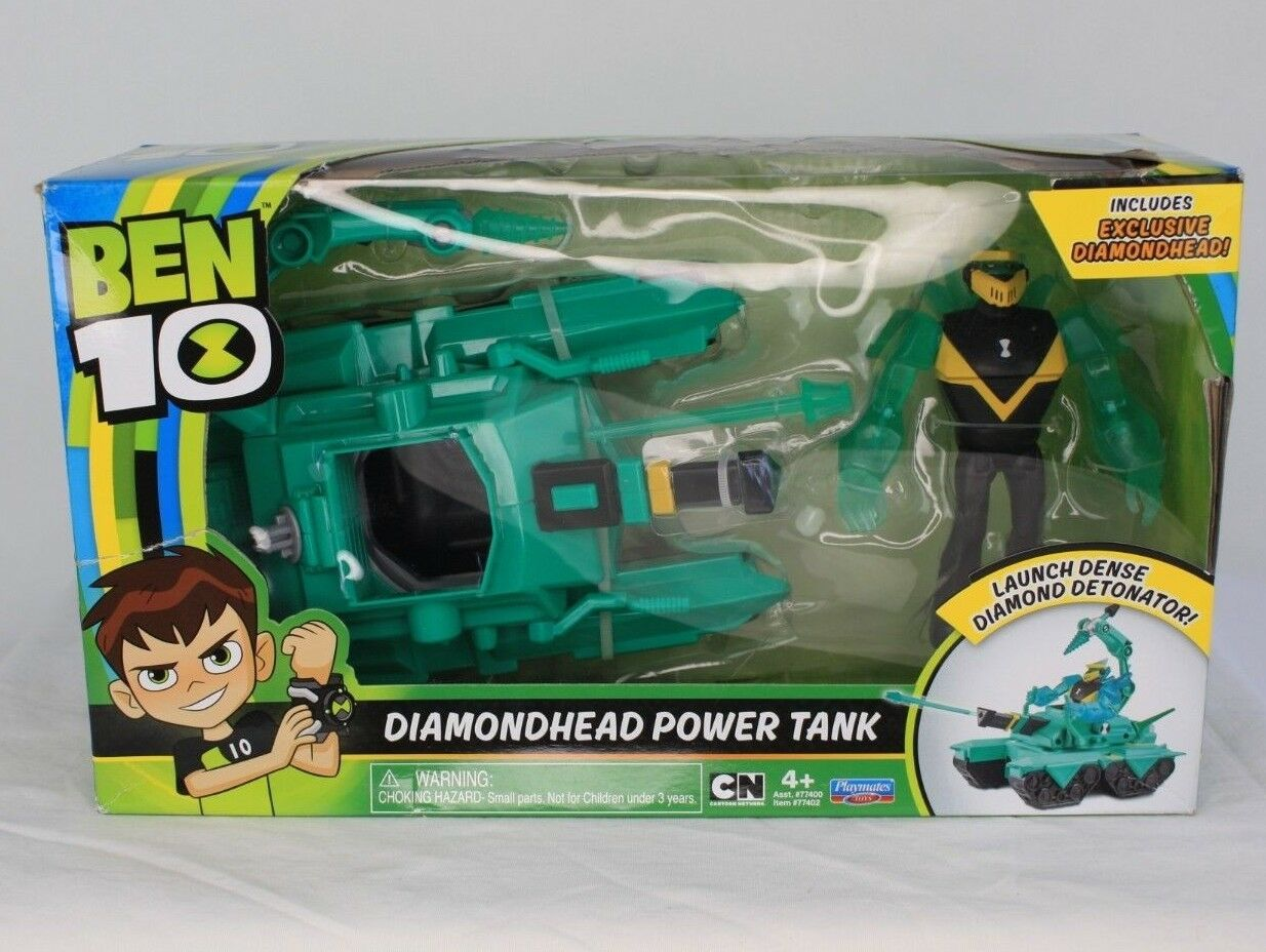 Ben 10 Diamondhead Power Tank Action Figure & Vehicle New in Box SHIPS NEXT DAY