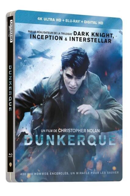 Dunkirk Steelbook 4k UHD Blu-ray Multi Language Options European IMPORT
