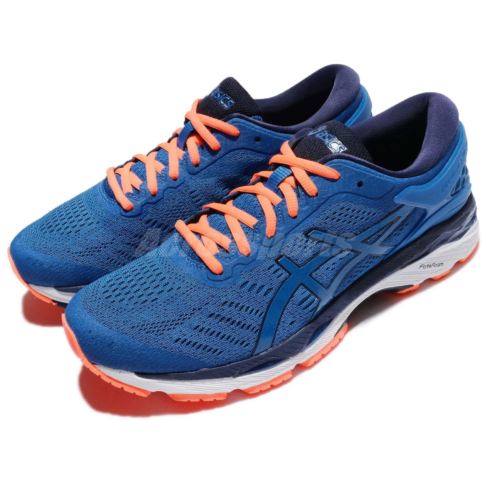 Asics Gel-Kayano 24 Directoire bleu Hot Orange hommes Running Chaussures T749N-4358