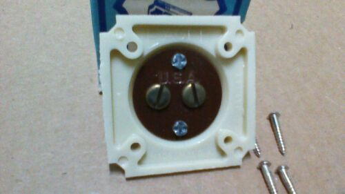 IVORY EAGLE 143 BAKELITE SQUARE PUSH  BUTTON WITH MOUNTING SCREWS