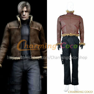 Details About Resident Evil 4 Cosplay Leon Scott Kennedy Leon S Kennedy Costume Men Halloween