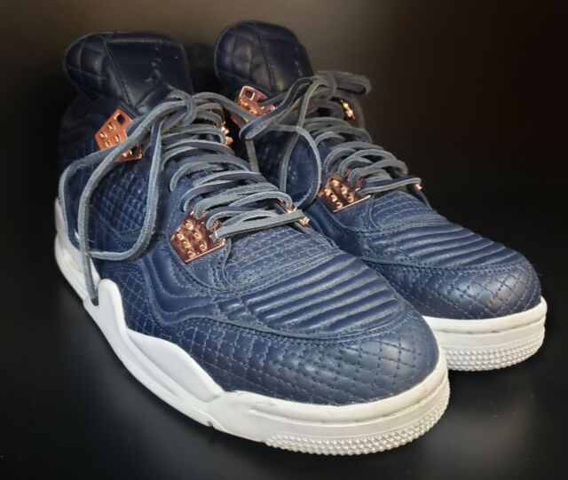c252a75347ca07 Nike Air Jordan 4 IV Retro Premium Obsidian Pinnacle Rose Gold 819139-402 S