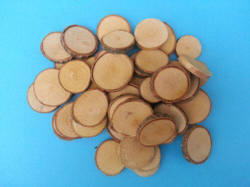 DISCHI rustico in legno con corteccia naturale Surround Craft Taglia Scelta Piccolo O Grande