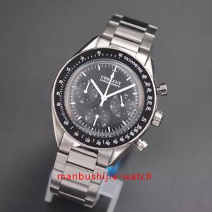 Chronograph-Uhr-Luminous-Hand-40mm-japanische-Quarz-CORGEUT-Black-Dial-men-watch