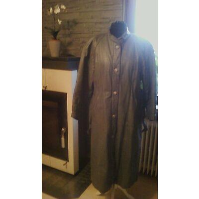 Damen ECHT Leder Mantel grau Gr. 38(ohne Gürtel bis Gr. 42 tragbar) vintage 90er