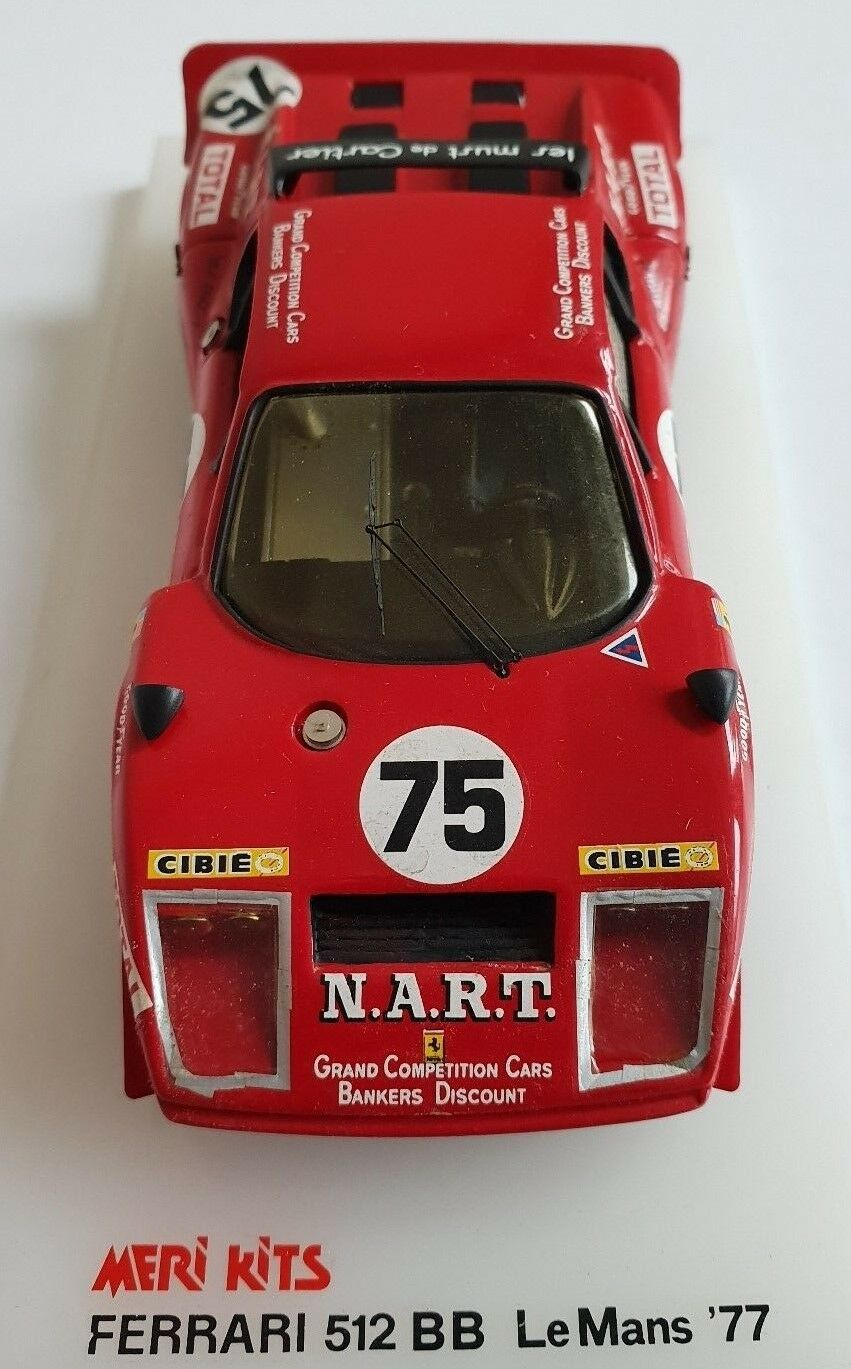 Ferrari 512 BB Le Mans 77, NART  75, 1 43 Meri Kits – sehr selten