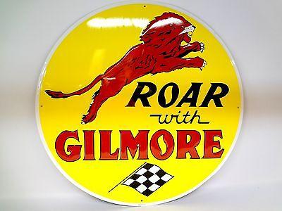 "10/"" ROAR GILMORE GASOLINE OIL VINYL DECAL FOR GAS PUMP LUBESTER SIGN GILM-2"