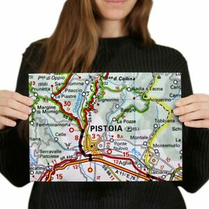 A4-Pistoia-Europe-Italy-Italian-Travel-Map-Poster-29-7X21cm280gsm-46123
