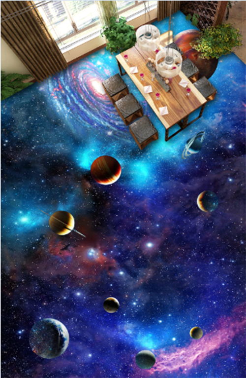 3D Night sky planet 3535 Floor WallPaper Murals Wall Print Decal 5D AJ WALLPAPER