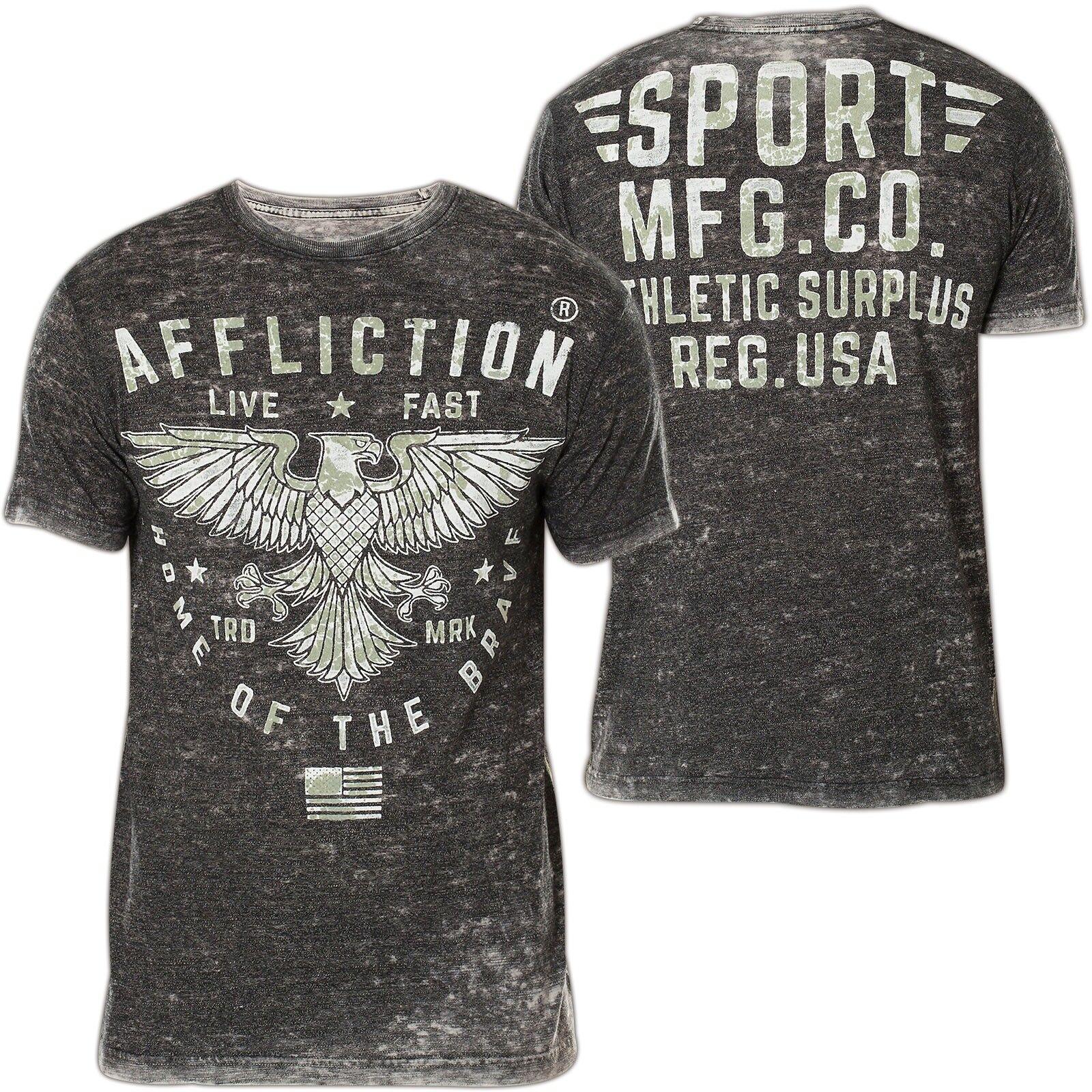 AFFLICTION T-Shirt Standard Athletics Grau T-Shirts Herren