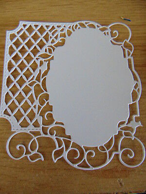 TONIC Cassandra/'s Garden Floral Lacy Die Cut Frames-Backgrounds any colour x 6
