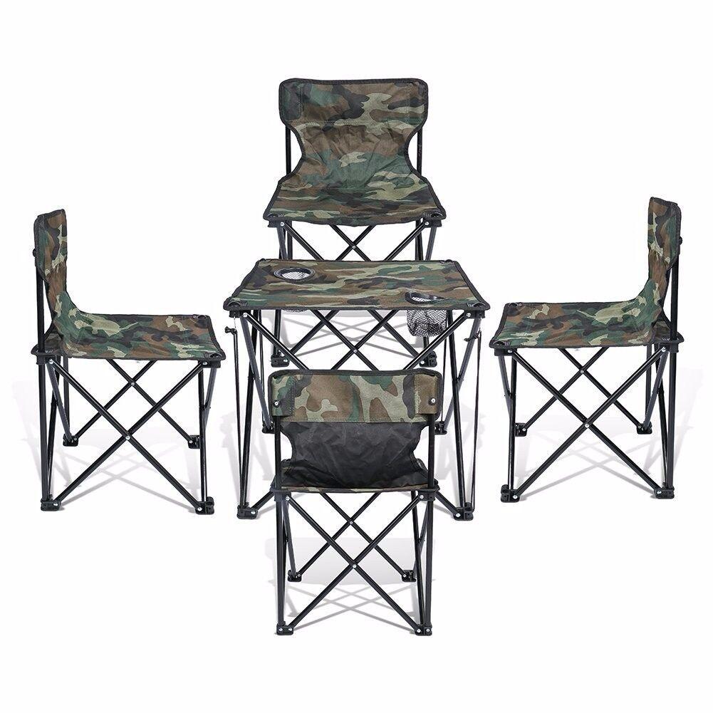 Super Convenient Kids Set Camping Bundle Contains 4 units Quad Chairs + 1 unit T