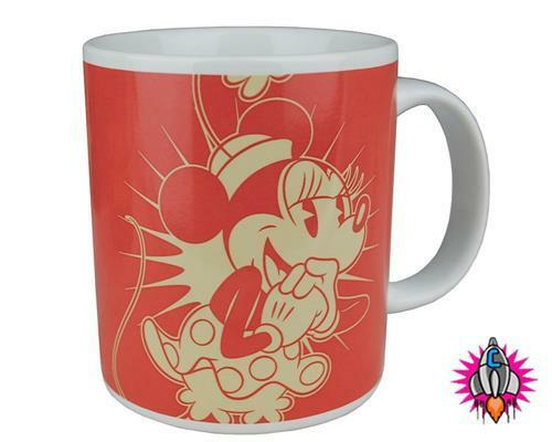 MINNIE & MICKEY MOUSE VINTAGE RETRO STYLE DISNEY MUG COFFEE CUP NEW IN GIFT BOX