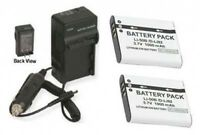 2 Batteries + Charger For Olympus Stylus Mju 1010 1020 9000 9010 8010 1030 Sw