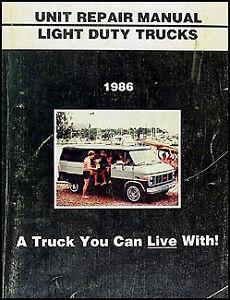 NEW-1986-GMC-Truck-Engine-Transmission-Overhaul-Manual-Pickup-Jimmy-Suburban-Van