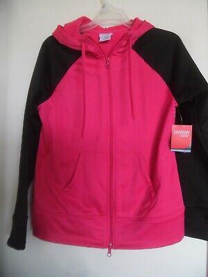 Teal /& Pink Semi-Fitted Tech Fleece Hoodie Danskin Now Performance M 8-10