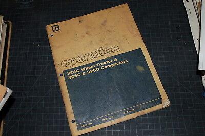 CAT Caterpillar 824C 825C 826C Roller Compactor Owner Maintenance Manual book