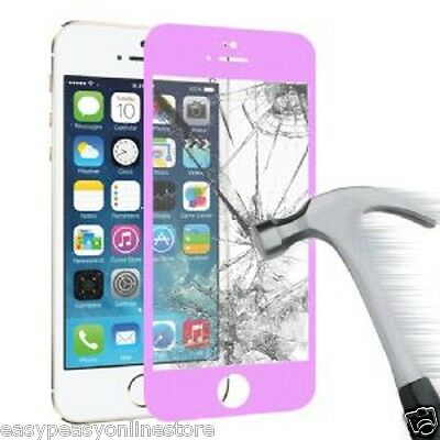 Premium Purple 0.33ml Iphone 5 5c 5s Tempered Glass Screen Protector Oleophobic