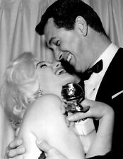MARILYN MONROE ROCK HUDSON CANDID PHOTO - At the 1962 Golden Globe Awards