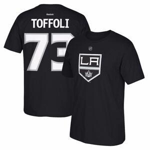 Tyler-Toffoli-Reebok-Los-Angeles-Kings-Player-Premier-Black-Jersey-T-Shirt-Men-039-s