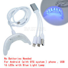 Dental Whitening Kit Oral Care USB Charging Blue Light w/Color Shade Home CA