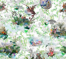 Designers Guild Christian Lacroix cotton fabric Reveries vert buis FCL7008/01