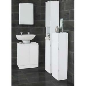 White High Gloss Bathroom Set Suite