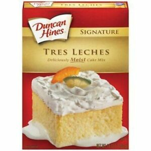 Duncan Hines Signature TRES LECHES Cake Mix, 2 Pack, BSB DATE FEB 2021