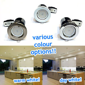 Fire-Rated-LED-GU10-Downlight-Recessed-Ceiling-Spotlights-Kitchen-Lights