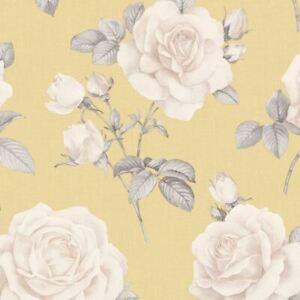 Belgravia-Decor-Rosa-Floral-Papier-Peint-Fleurs-Moutarde-Jaune-9765
