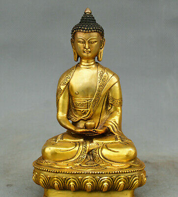 Old China Sakyamuni statue collection Family art damo Asceticism Buddha
