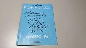 0120-CATALOGO-PEDIDO-POP-Y-JAZZ-FEBRERO-1996-POLYGRAM-CD-CASSETTE-54-PAGINAS