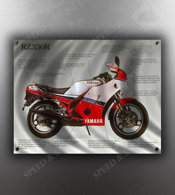 VINTAGE YAMAHA YZ125 MOTORCYCLE BANNER