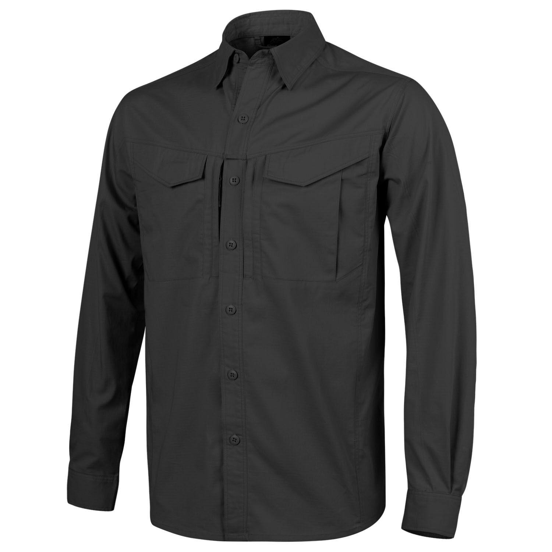 Helikon Tex DEFENDER Mk2 Shirt Long sleeve Outdoor Freizeit Hemd black 2XL XXL