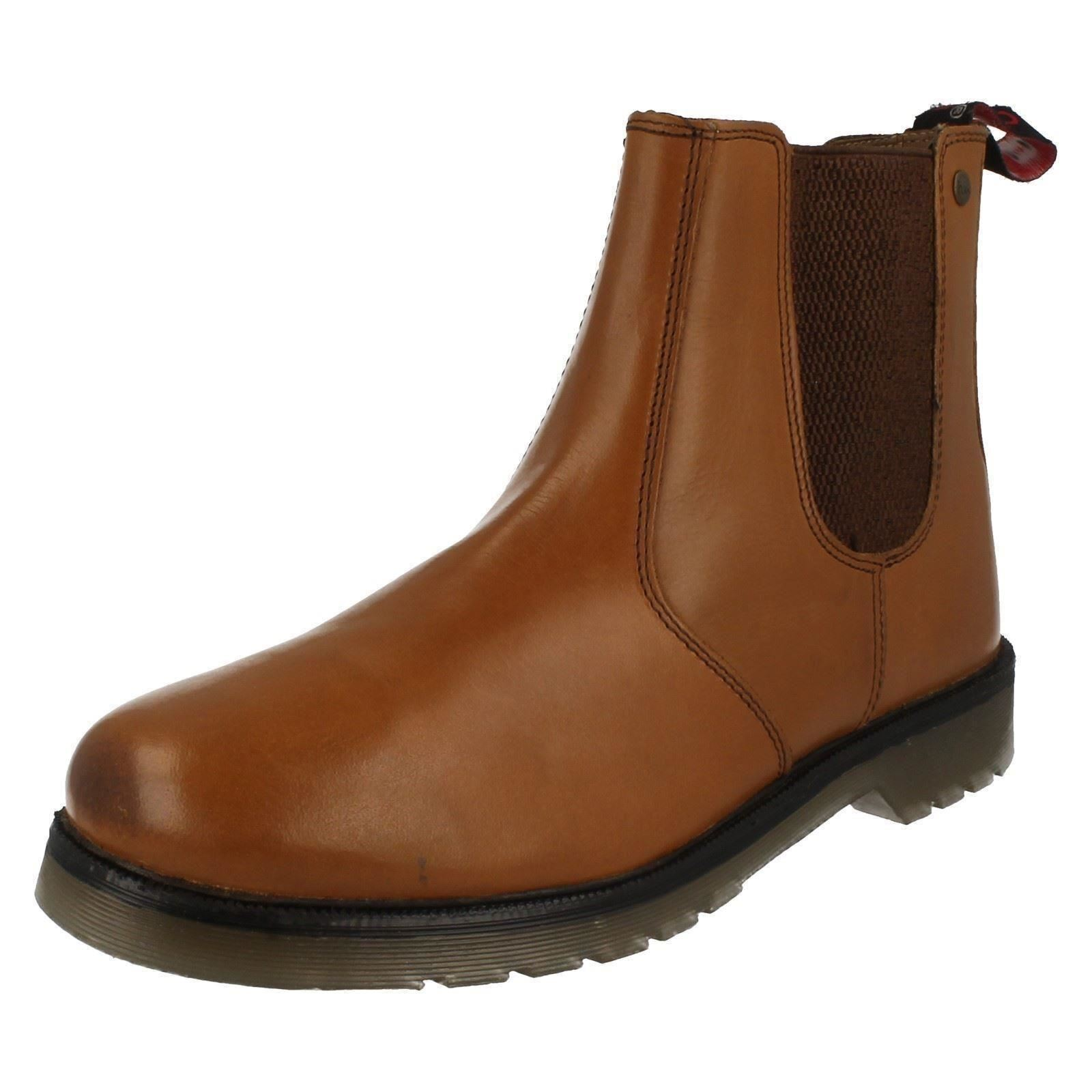 HX London 'HX01T' Mens Tan 100% Leather Chelsea Boots