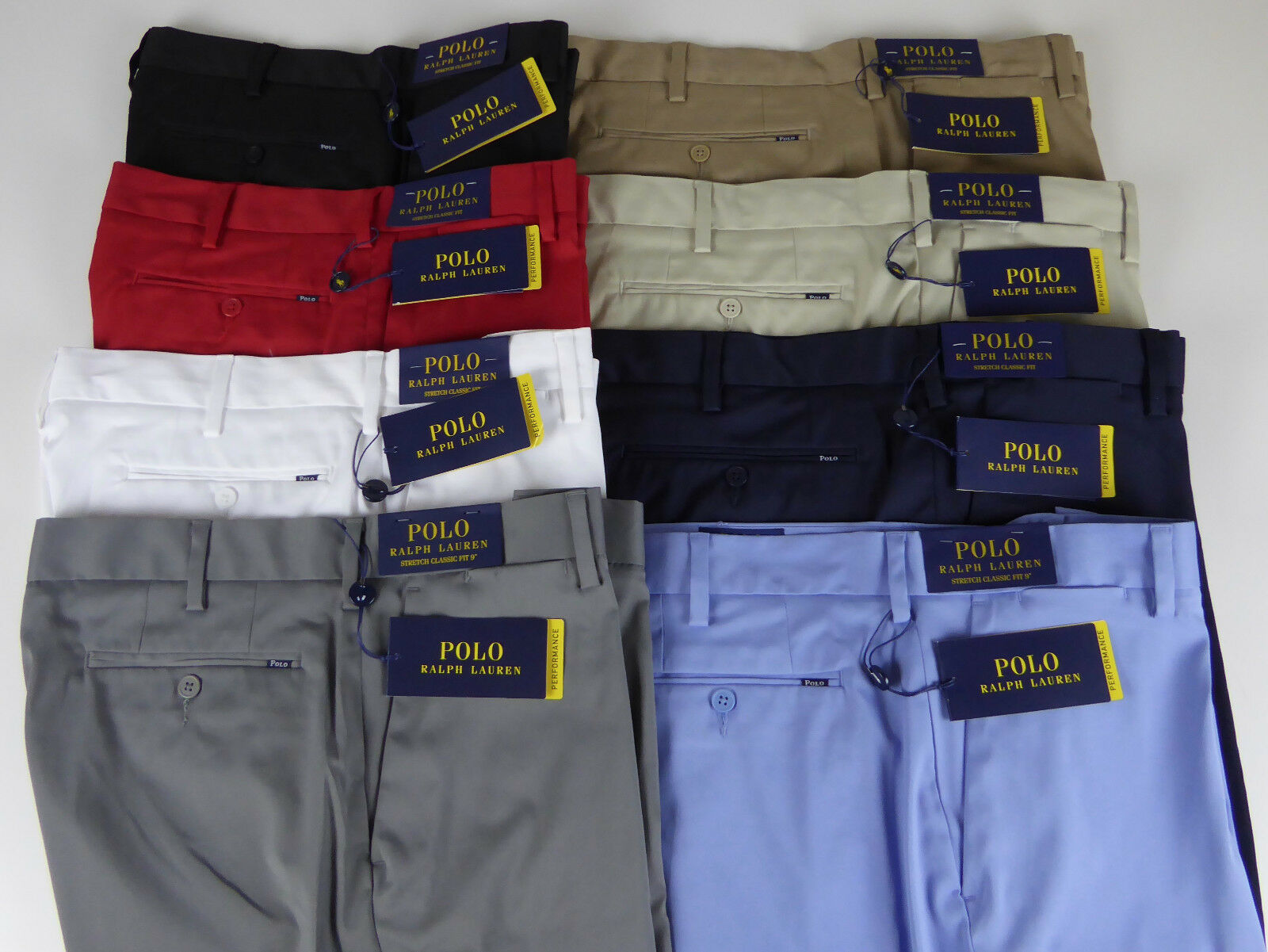 Polo Ralph Lauren Stretch Classic Fit Performance Twill Shorts 79-89 NWT Badge