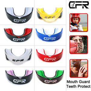 Adult Gum Shield Mouthguard Boxing MMA Teeth Grinding Rugby Youth Gel Protector