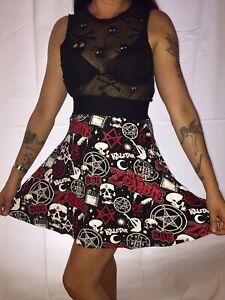 Killstar-Baby-Death-Skater-Skirt-Printed-Pentagrams-Skulls-666-Moons-Rob-Zombie
