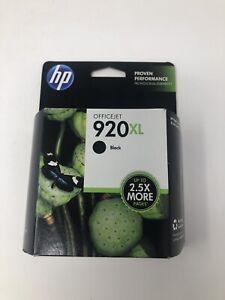 HP 920XL Black Ink Cartridge (CD975AN) Expired Feb 2018 NIB 920 XL