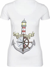 Küstenluder ÜBERLEBEN IST ALLES Sailor Ship Lighthouse 3//4 Arm SHIRT Rockabilly