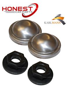 Para Ford Focus MK1 98-05 tapas de grasa de Buje de rueda trasera /& tuercas de retención por Karlmann
