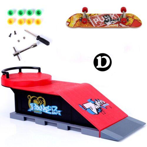 Mini Skate Park Ramp pièces F Tech Deck touche Doigt Skateboard Cadeaux Neuf