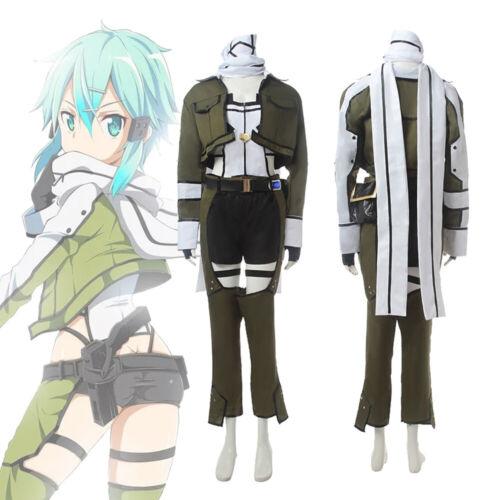Sword Art Online GGO Asada Shino Sinon Phantom Bullet Anime Cosplay Costume